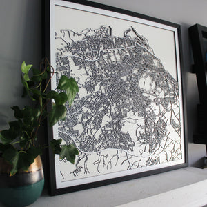 Edinburgh Street Carving Map