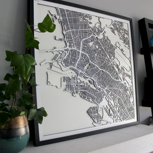 Oakland Street Carving Map