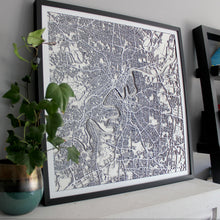 Brisbane Street Carving Map (Sold Out)