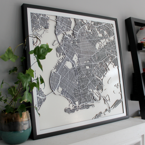 Brooklyn Street Carving Map (Sold Out)