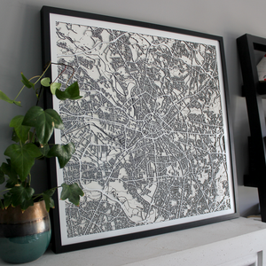 Manchester Street Carving Map (Sold Out)