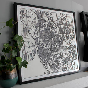 Buffalo Street Carving Map (Sold Out)