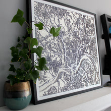 Cincinnati Street Carving Map (Sold Out)