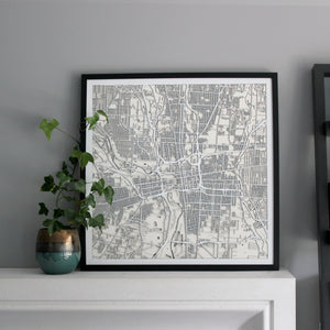 Columbus Street Carving Map (Sold Out)