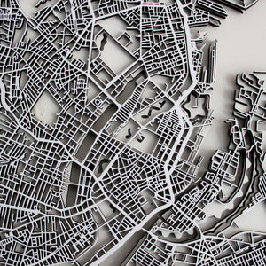 Copenhagen Street Carving Map (Sold Out)