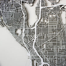 Seattle Street Carving Map (Sold Out)