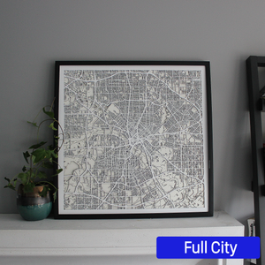 Dallas Street Carving Map (Sold Out)