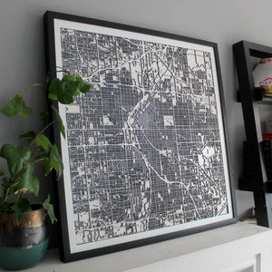 Denver Street Carving Map