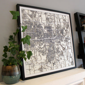 Des Moines Street Carving Map (Sold Out)