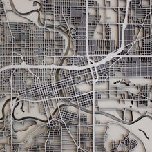 Des Moines Street Carving Map