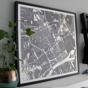 Detroit Street Carving Map