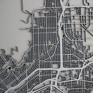 El Paso Street Carving Map (Sold Out)