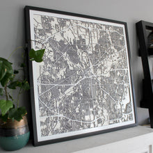 Fort Worth Street Carving Map (Sold Out)