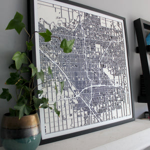 Fresno Street Carving Map (Sold Out)