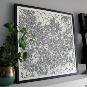 Glasgow Street Carving Map (Sold Out)