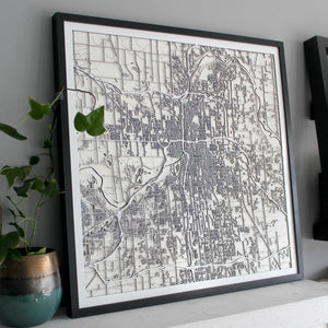 Grand Rapids Street Carving Map (Sold Out)