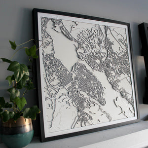 Halifax Street Carving Map (Sold Out)