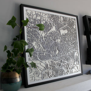 Hamburg Street Carving Map (Sold Out)