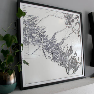Honolulu Street Carving Map (Sold Out)