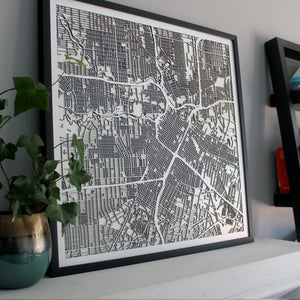Houston Street Carving Map