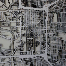 Indianapolis Street Carving Map (Sold Out)