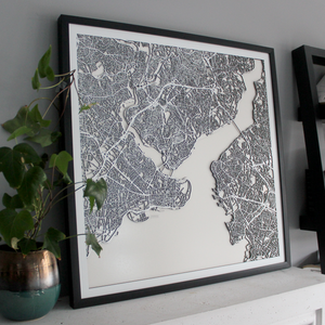 Istanbul Street Carving Map (Sold Out)