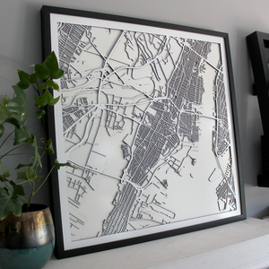 Jersey City Street Carving Map (Sold Out)