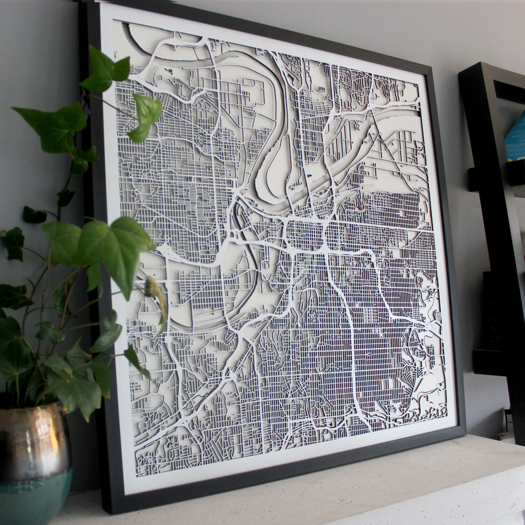 Kansas City Street Carving Map (Sold Out) – StreetCarvings