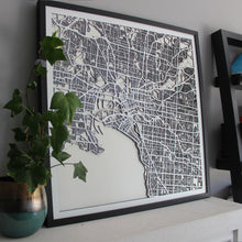 Melbourne Street Carving Map (Sold Out)