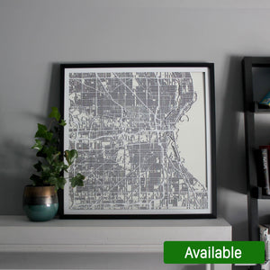 Milwaukee Street Carving Map