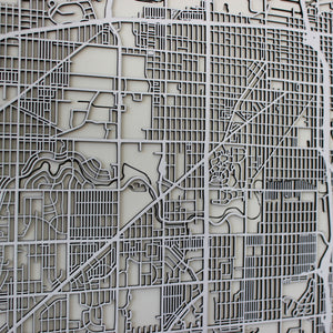 Milwaukee Street Carving Map (Sold Out)