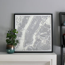 New York (Manhattan) Street Carving Map (Sold Out)