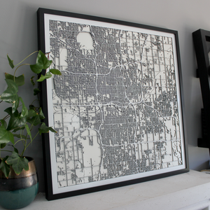Oklahoma City Street Carving Map (Sold Out)