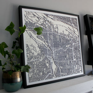 Portland Street Carving Map (Sold Out)