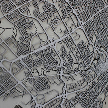 Québec / Quebec City Street Carving Map (Sold Out)