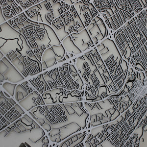 Québec / Quebec City Street Carving Map