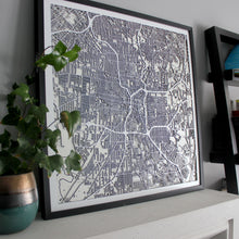 San Antonio Street Carving Map (Sold Out)