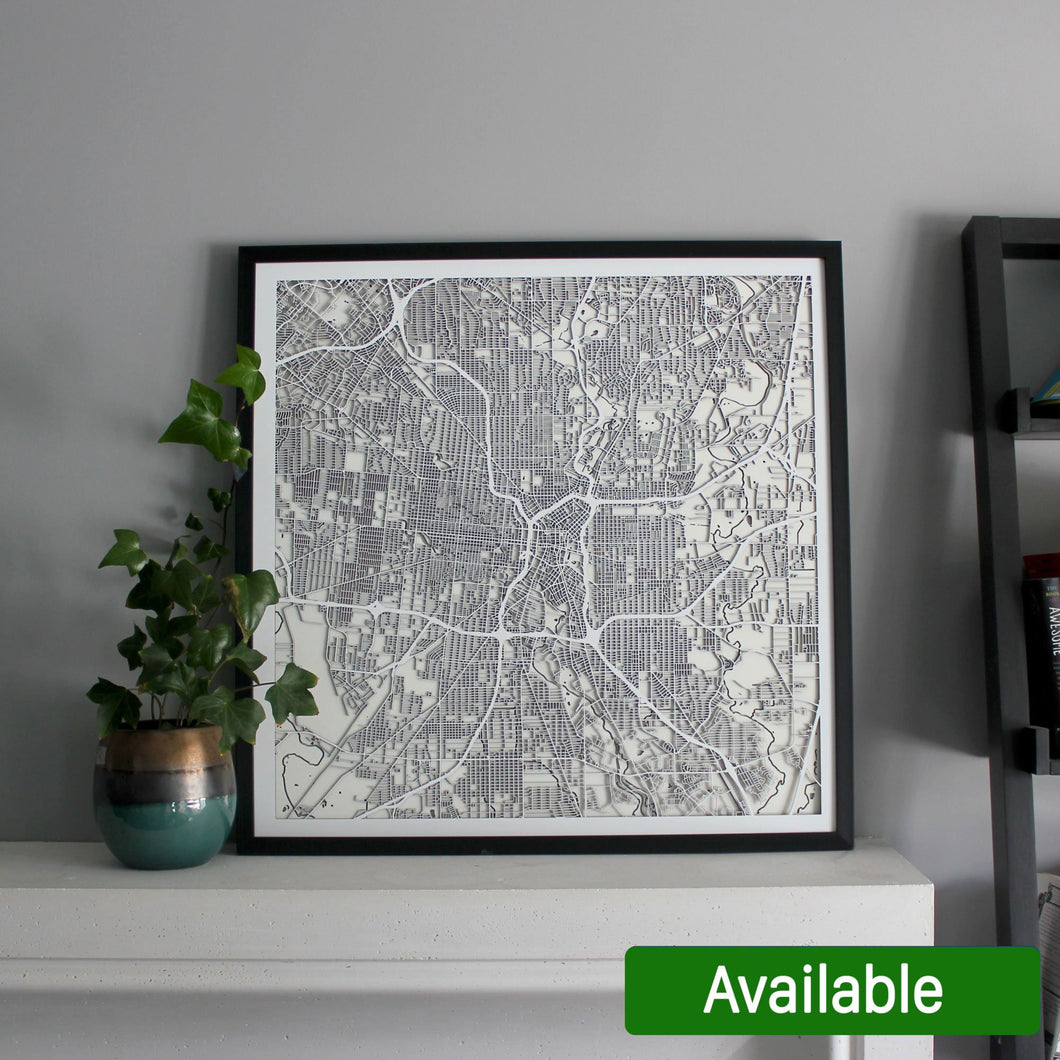 San Antonio Street Carving Map