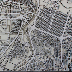 Sacramento Street Carving Map (Sold Out)