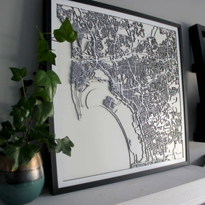 San Diego Street Carving Map (Sold Out)