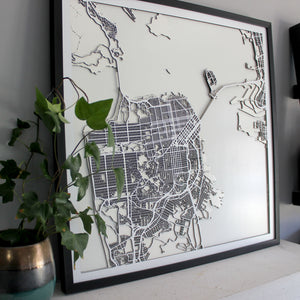 San Francisco Street Carving Map (Sold Out)