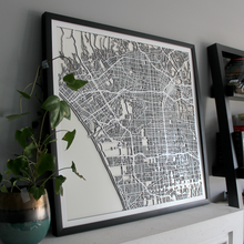Santa Monica / LA Street Carving Map (Sold Out)