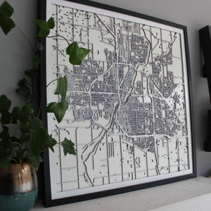 Saskatoon Street Carving Map (Sold Out)