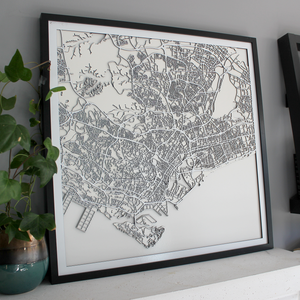 Singapore Street Carving Map (Sold Out)