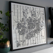 Sioux Falls Street Carving Map (Sold Out)