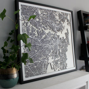 Sydney Street Carving Map (Sold Out)