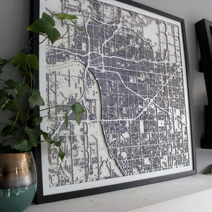 Tulsa Street Carving Map (Sold Out)
