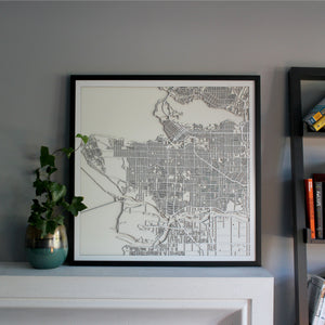 Vancouver Street Carving Map