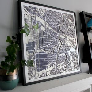 Winnipeg Street Carving Map (Sold Out)