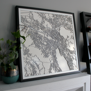 Zürich Street Carving Map (Sold Out)